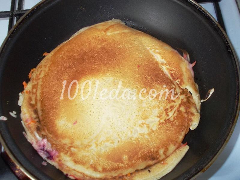 Вкусные блины на завтрак с подложкой - 2 варианта - Шаг №4