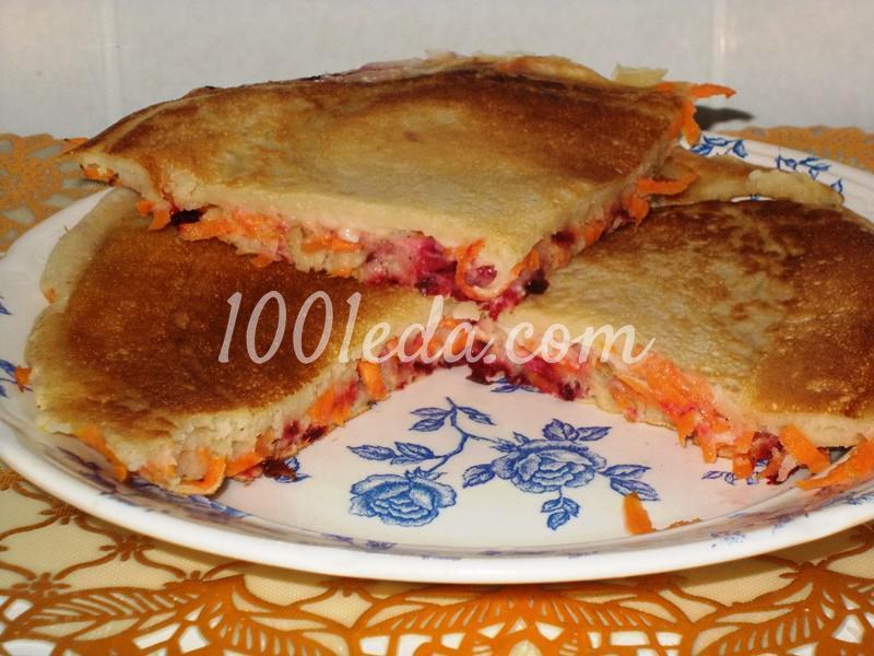 Вкусные блины на завтрак с подложкой - 2 варианта - Шаг №6