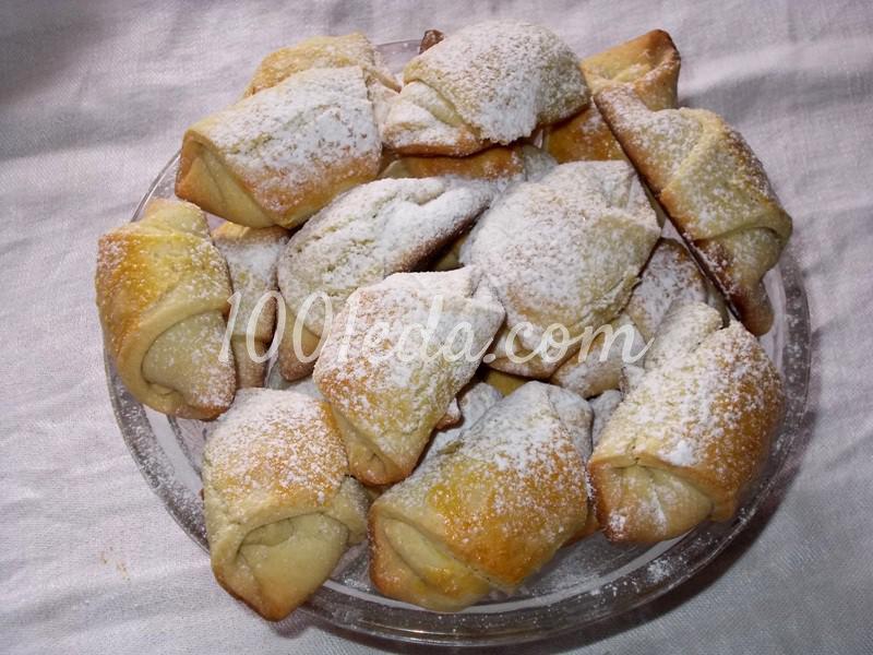 Вкусные и быстрые рогалики на сметане и смальце - Шаг №10