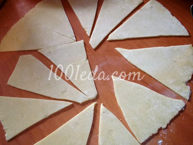 Вкусные рогалики из теста на сметане: пошаговое фото - Шаг №2