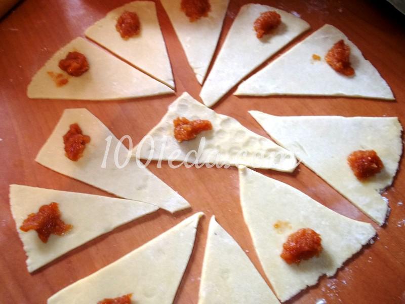 Вкусные рогалики из теста на сметане: пошаговое фото - Шаг №3