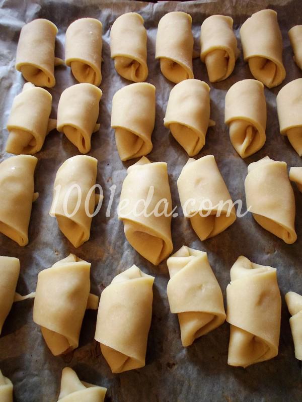 Вкусные рогалики из теста на сметане: пошаговое фото - Шаг №5