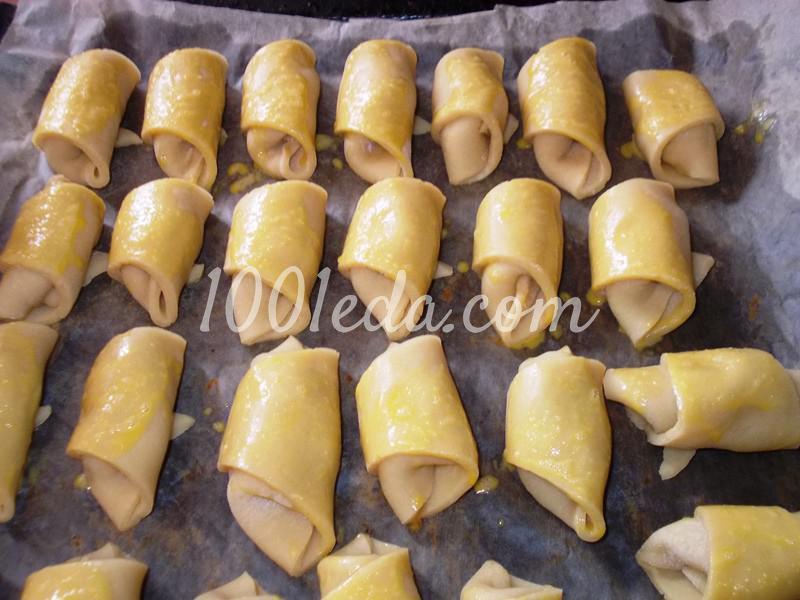 Вкусные рогалики из теста на сметане: пошаговое фото - Шаг №6