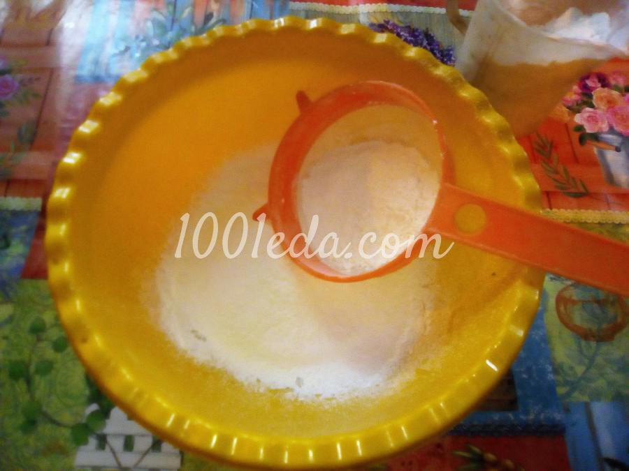 Вкусный пирог с черникой и сметанной заливкой: пошаговый с фото - Шаг №1