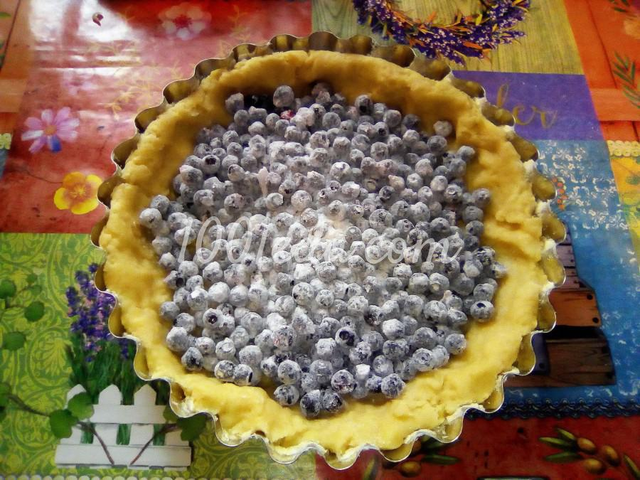 Вкусный пирог с черникой и сметанной заливкой: пошаговый с фото - Шаг №10