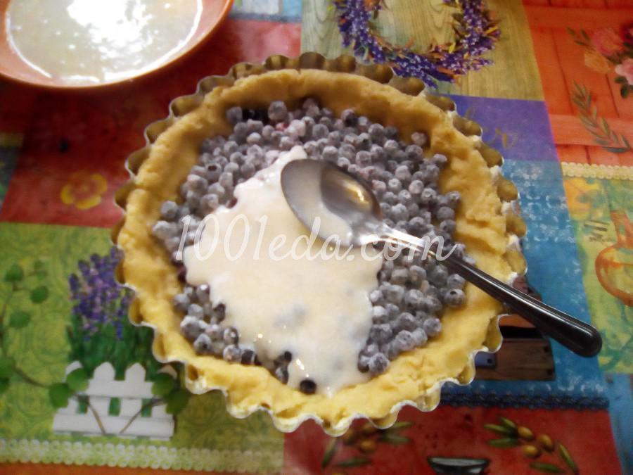 Вкусный пирог с черникой и сметанной заливкой: пошаговый с фото - Шаг №12