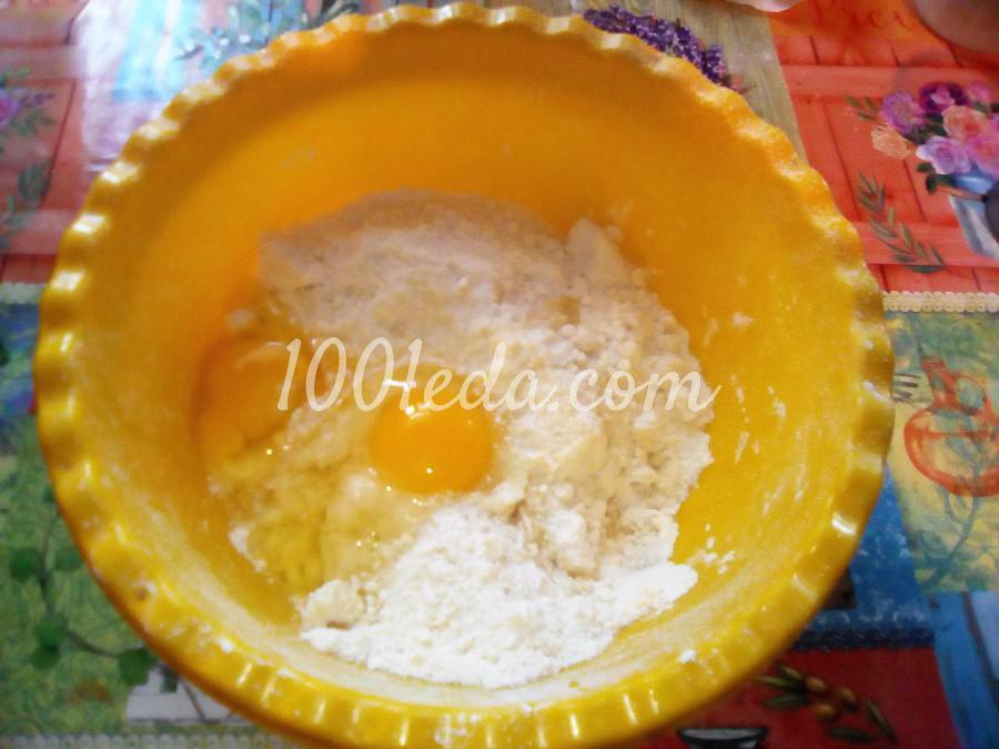 Вкусный пирог с черникой и сметанной заливкой: пошаговый с фото - Шаг №6