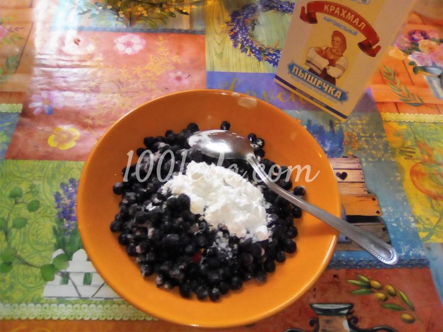 Вкусный пирог с черникой и сметанной заливкой: пошаговый с фото - Шаг №9