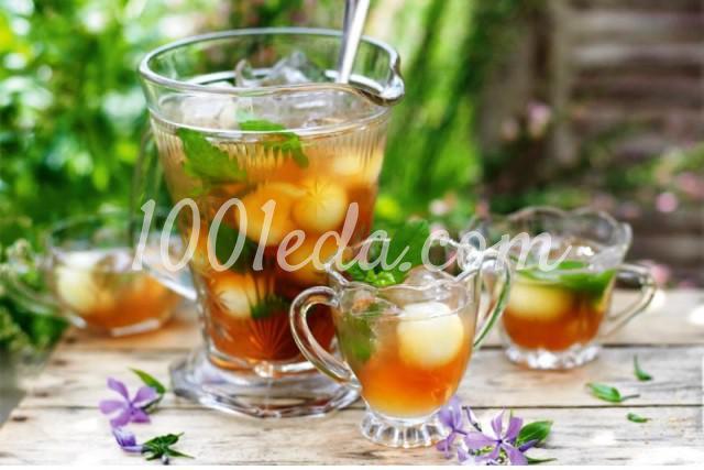 Холодный чай с дыней и мятой