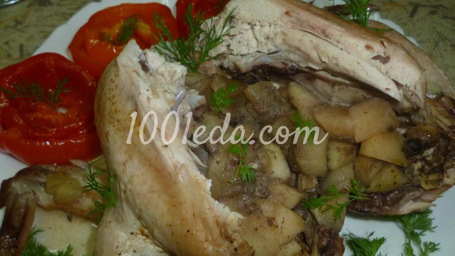 Яблочная курочка в рукаве в духовке: рецепт с пошаговым фото - Шаг №4