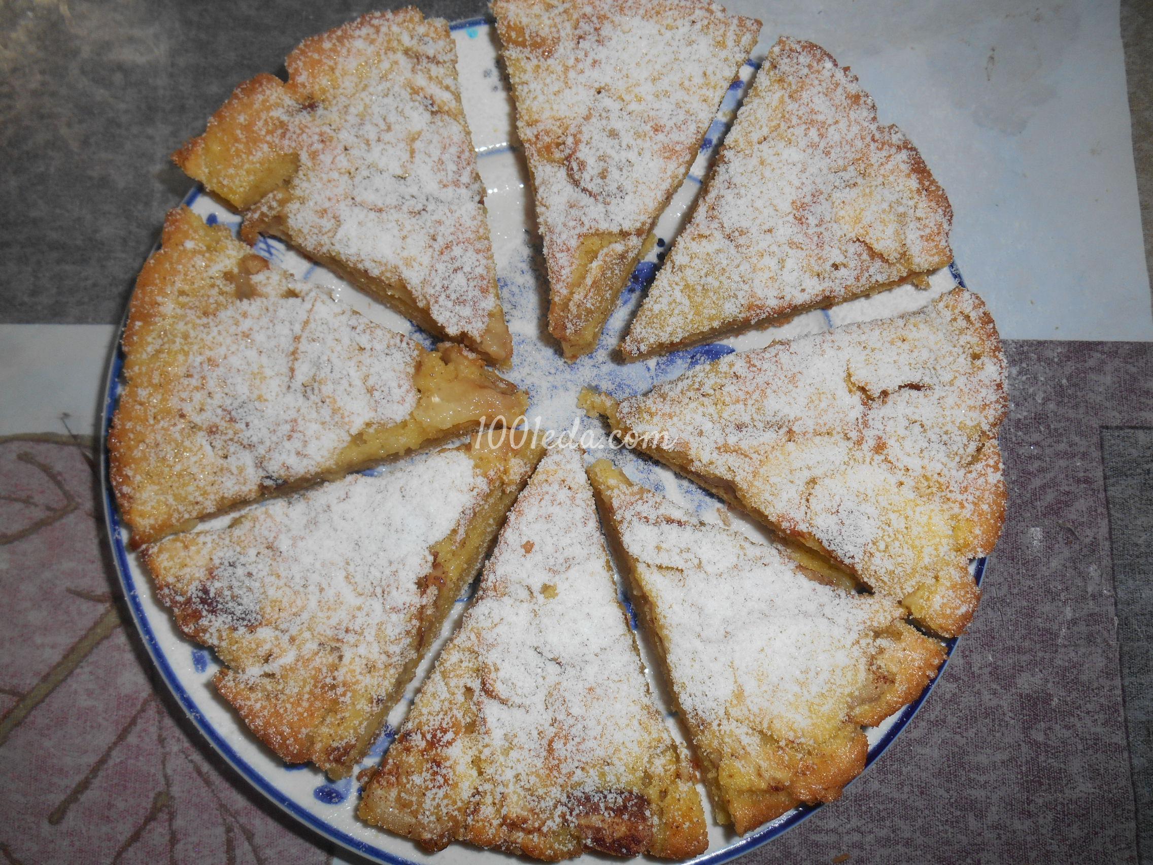 Шарлотка из кукурузной муки с яблоками рецепт пошагово в духовке