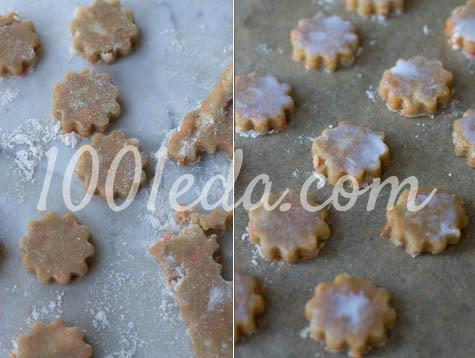 Яблочно-морковное песочное печенье