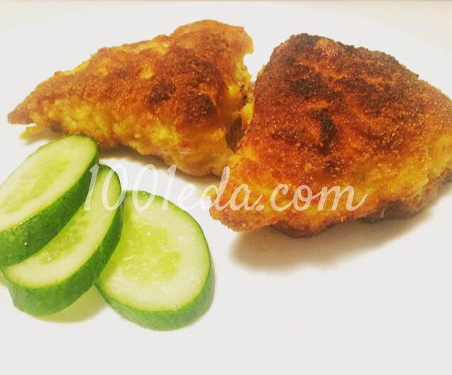 Котлеты По-королевски из куриного филе с ветчиной и сыром: пошаговое фото