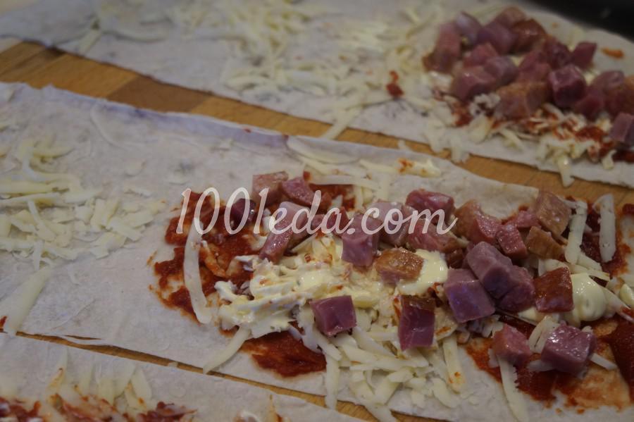 Закрытые пироги из лаваша - пиццалашики: рецепт с пошаговым фото - Шаг №4