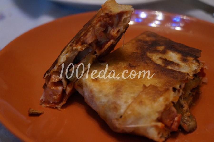 Закрытые пироги из лаваша - пиццалашики: рецепт с пошаговым фото - Шаг №9