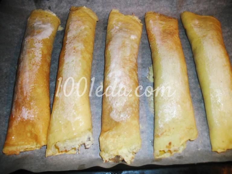 Закуска Бризоли с грибами и мясом: пошаговое фото - Шаг №14