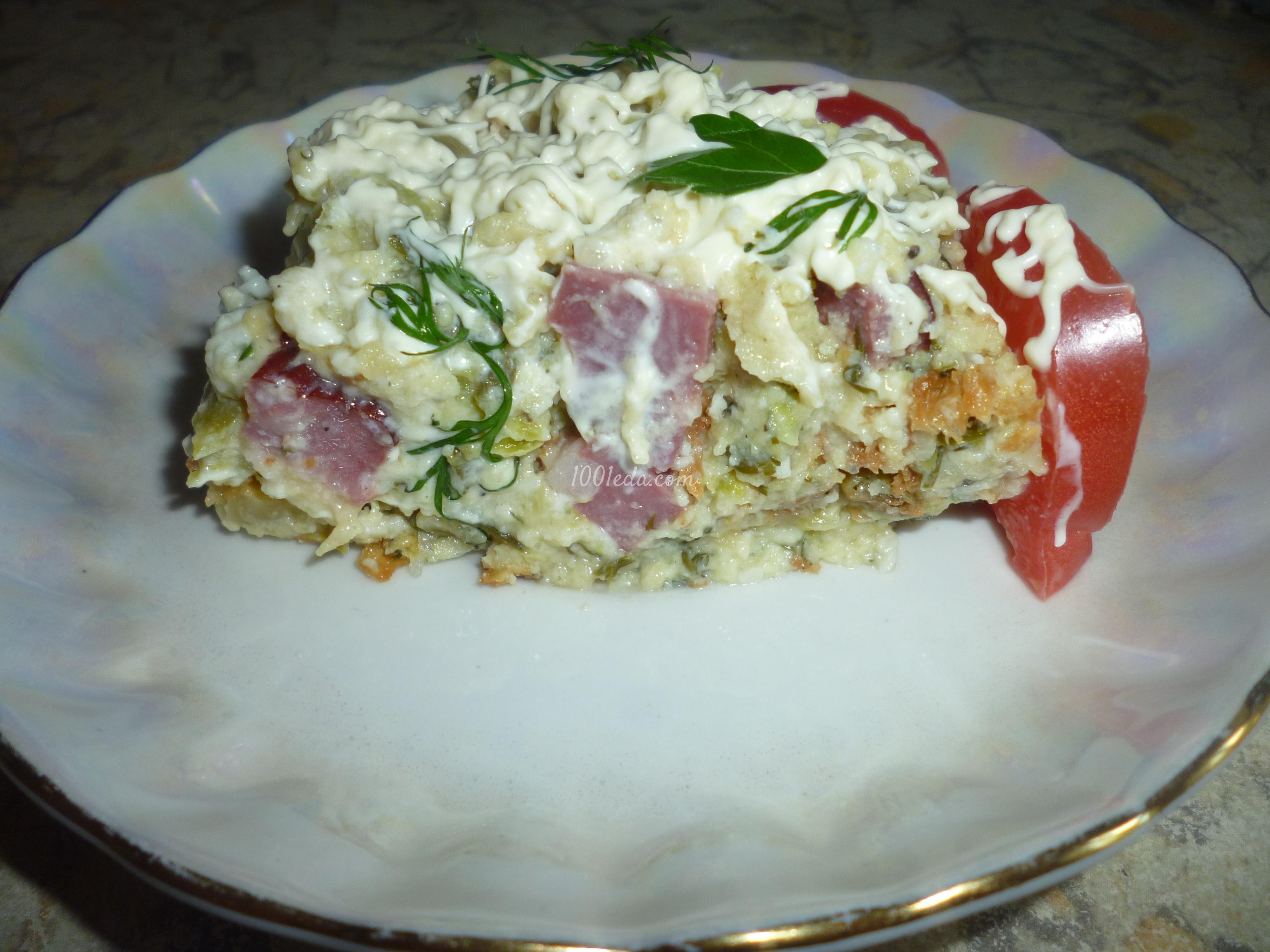 кабачки с колбасой в духовке рецепт с фото пошаговый