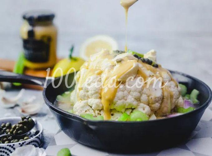 Запеченная цветная капуста в горчичном соусе: пошаговый с фото - Шаг №3