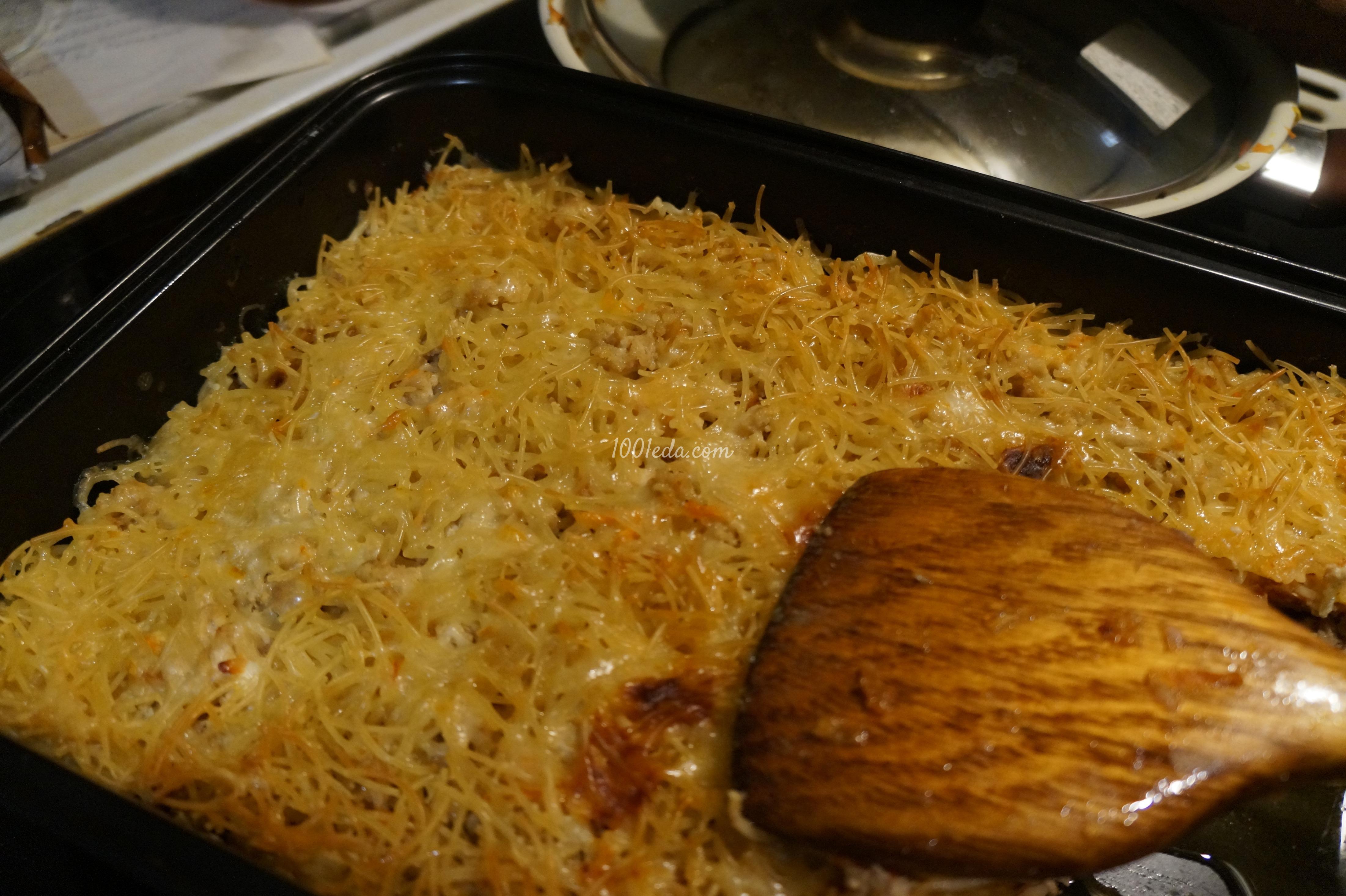 Рецепты запеканки из лапши с фаршем с пошагово