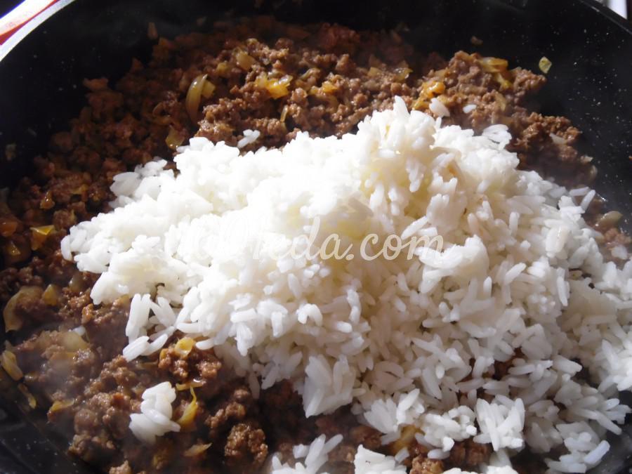 Запеканка из риса, фарша и капусты: пошаговый с фото - Шаг №5