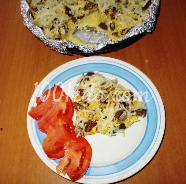 Запеканка с картофельным пюре и грибными ножками: рецепт с пошаговым фото - Шаг №11