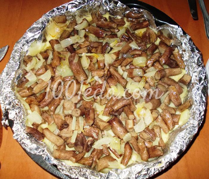 Запеканка с картофельным пюре и грибными ножками: рецепт с пошаговым фото - Шаг №7
