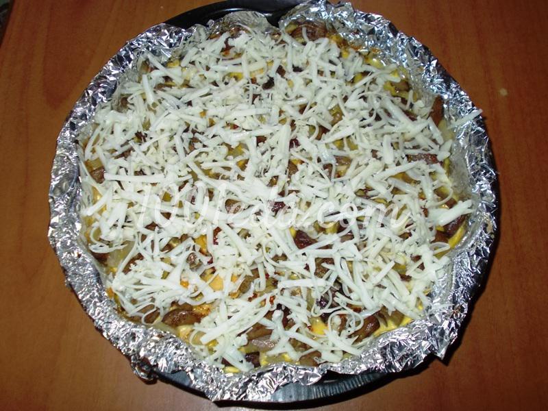 Запеканка с картофельным пюре и грибными ножками: рецепт с пошаговым фото - Шаг №9