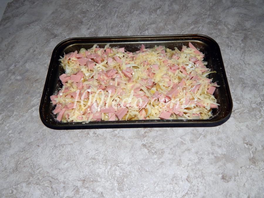 Запеканка с колбасой и сыром: пошаговый с фото - Шаг №4