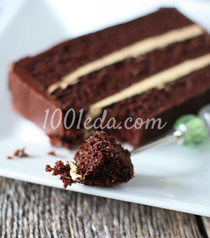 Шоколадный торт с масляно-кофейным кремом