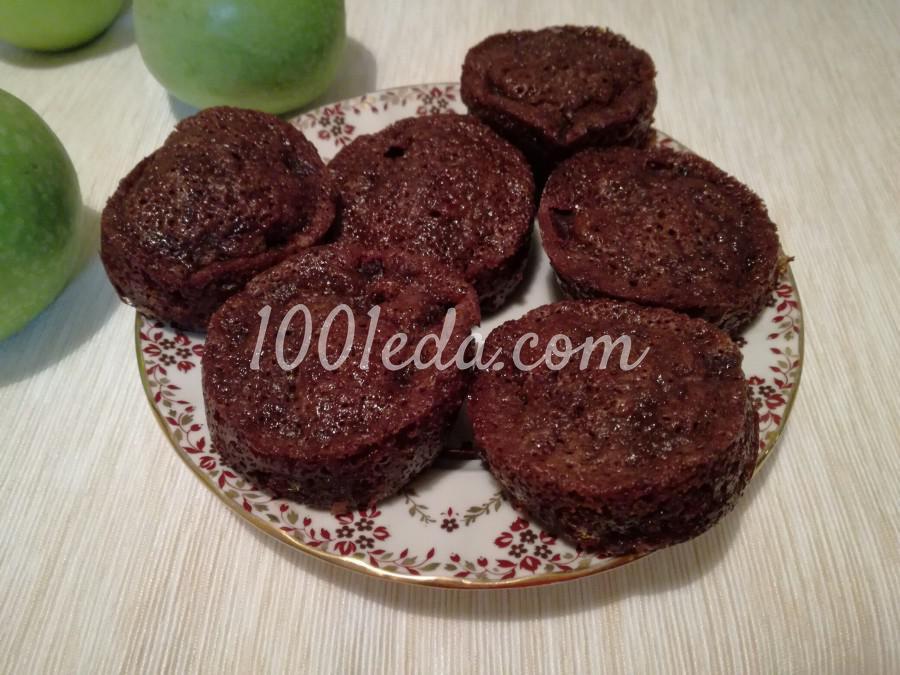 Маффины со свеклой, черносливом и какао