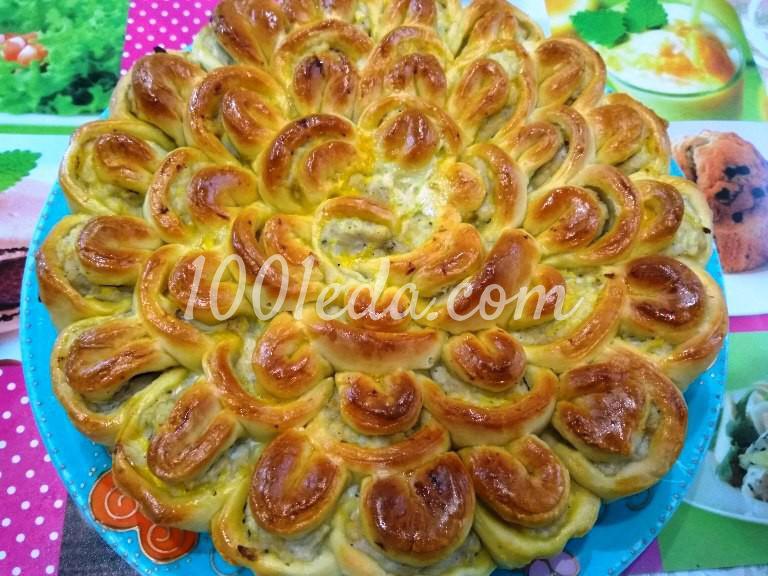 Мясной пирог Хризантема: рецепт с пошаговым фото