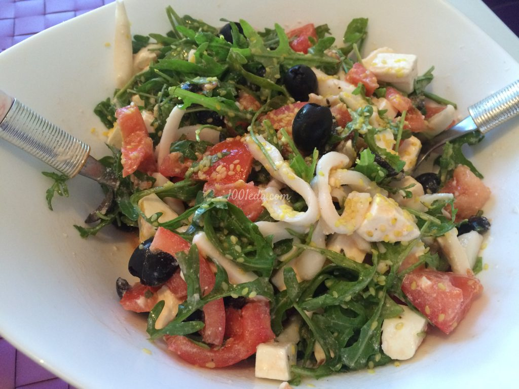рецепты вкусных салатов из морепродуктов и рыбы