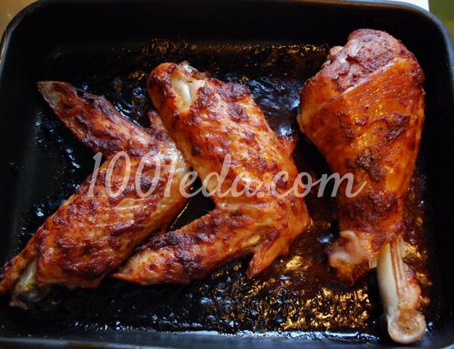 Голень и крыло индейки запеченные в духовке