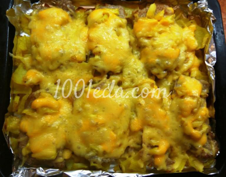 Мясо с картофелем и ананасами запеченные в духовке