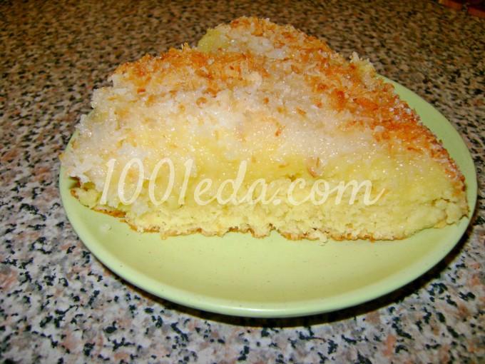 Кокосовый пирог со сливками пошаговый рецепт