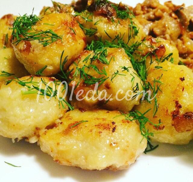 Картофельные клёцки с мясной зажаркой: пошаговый с фото