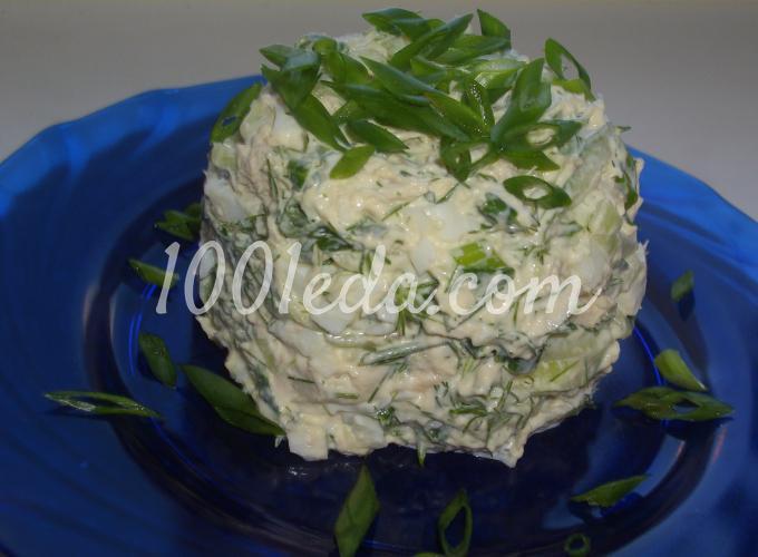 салат со свежим огурцом с зеленым луком рецепт