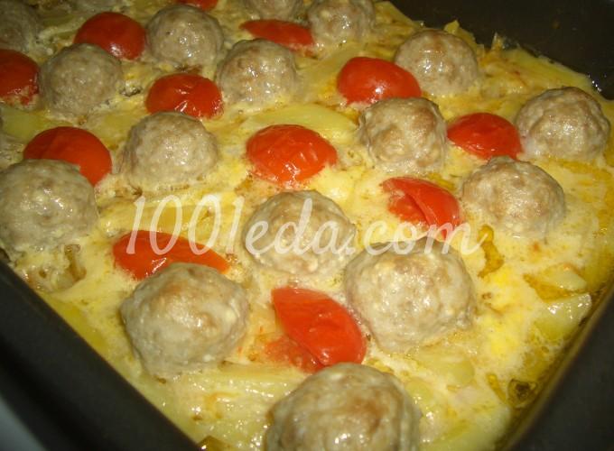 Картофельная запеканка с фрикадельками и помидорками черри: рецепт с пошаговым фото
