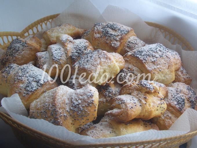 Творожные рогалики с яблоками рецепт с фото