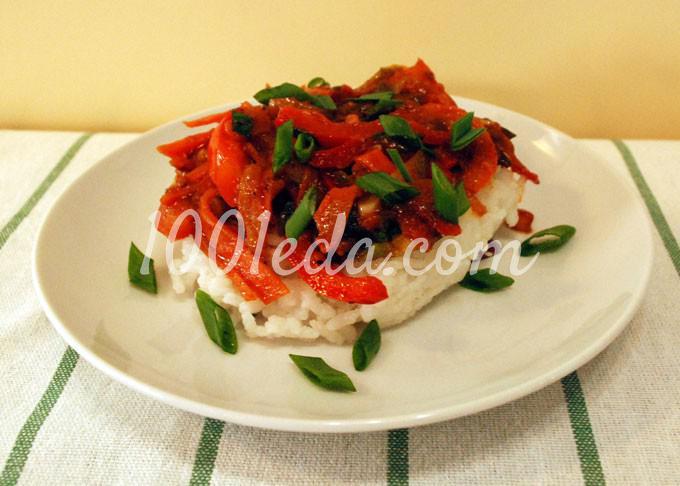 Рис с обжаренными овощами