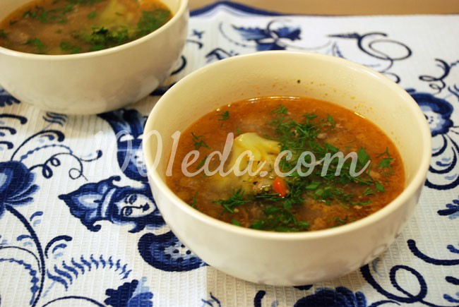 Суп с брокколи и фрикадельками для детей