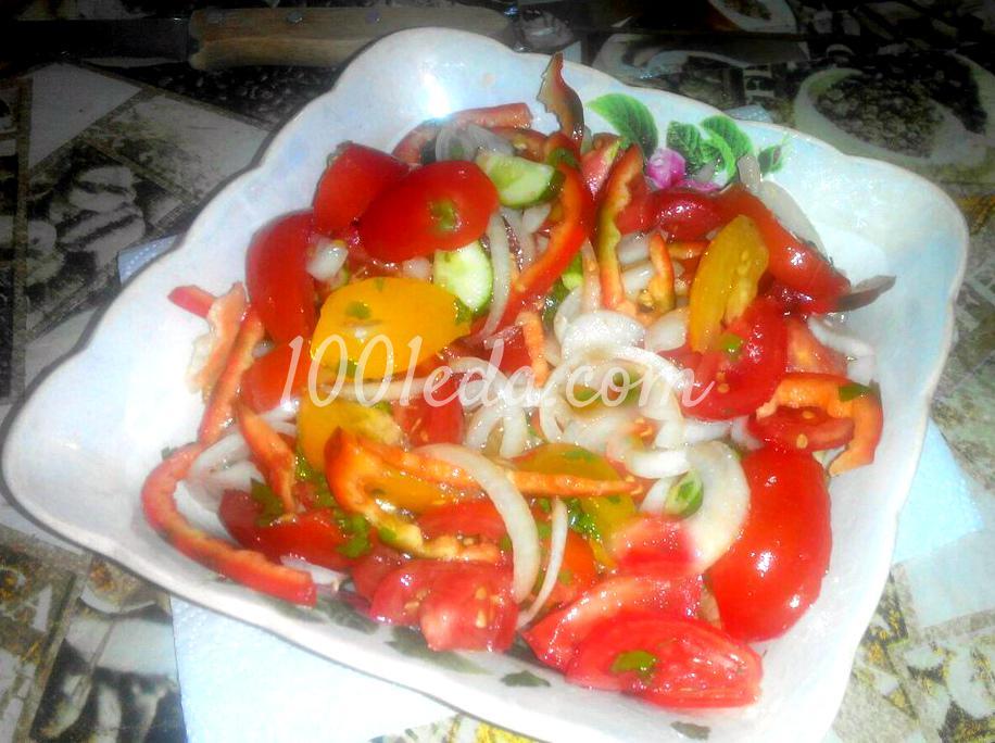 Летний легкий овощной салат