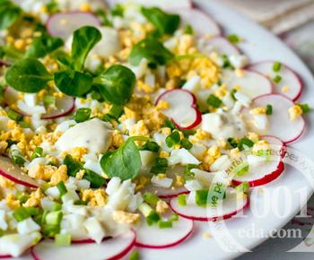 Пасхальный салат Яично-горчичный