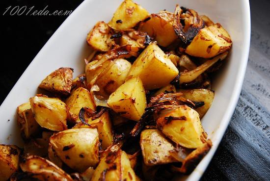 жареная картошка с шкварками рецепт с фото