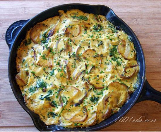 Жареная картошка с луком и мясом рецепт