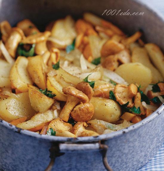 жареная картошка с сушеными грибами рецепт с фото