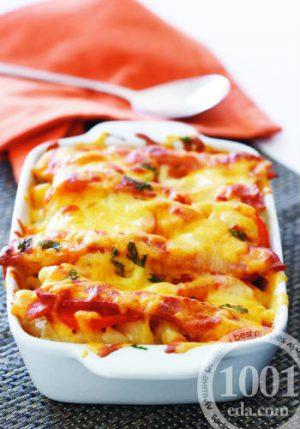 Запеченные макароны с сыром рецепт с фото
