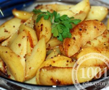 Румяная горчичная картошечка в мультиварке: рецепт с пошаговым фото