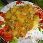 Свинина с картофелем в мультиварке