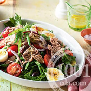 салат цезарь рецепт с тунцом и